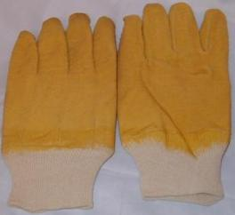 Rubber Latex Coated Yellow Working Gloves image