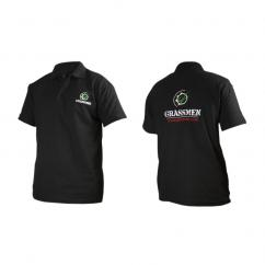 Grassmen Adults Black Polo T-Shirt  image