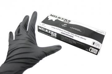 Milkers 300 Long Cuff Powder Free Nitrile Gloves  image