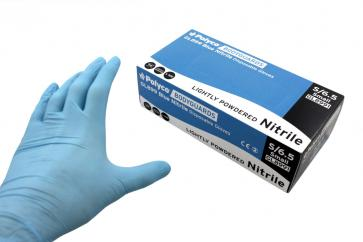 Bodyguards Lightly Powdered Blue Nitrile Gloves  image