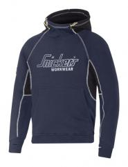 Snickers 2815 Logo Hoodie in Navy/Black  image