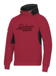 Snickers 2815 Logo Hoodie in Chilli Red/Black  image