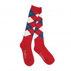 Dublin Argyle Socks Red/Navy/White image
