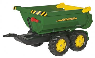 Rolly John Deere Halfpipe Green Twin Axle Trailer  image