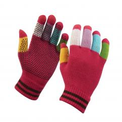 Dublin Magic Pimple Grip Riding Gloves Pink Multi  image