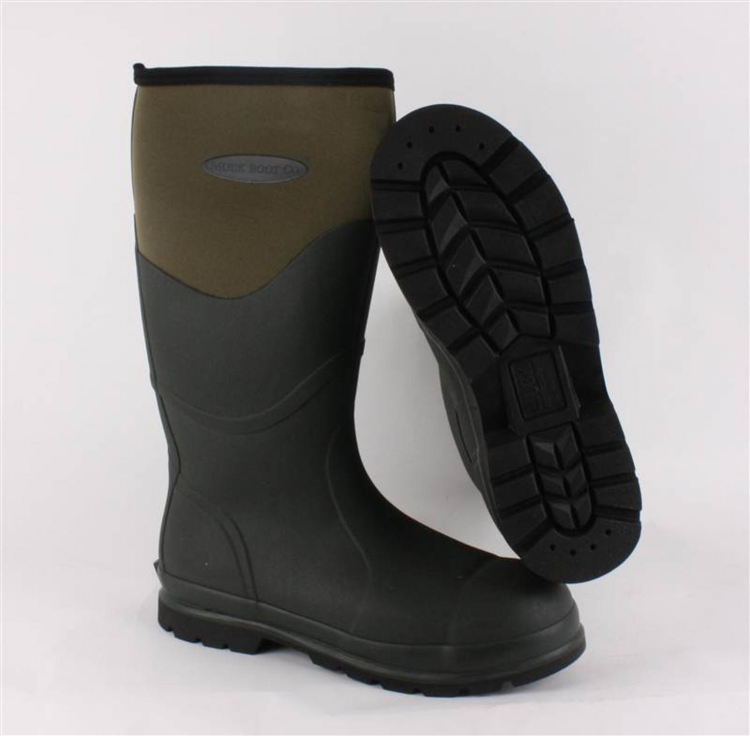 55cb808f330 Chore Steel Toe Safety Muck Boot Green