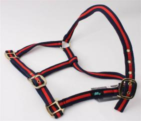 HY Cushion Web Headcollar Navy & Red  image