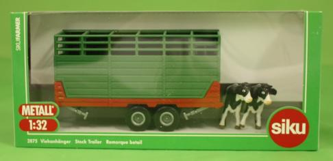 Siku Twin Axle Cattle Trailer with 2 Cows  image