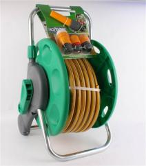 Hozelock 2 in 1 Assembled Reel & 25m Hose & Fittings image
