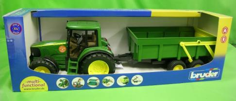 Bruder John Deere 6920 Tractor with Tipping Trailer 1:16  image