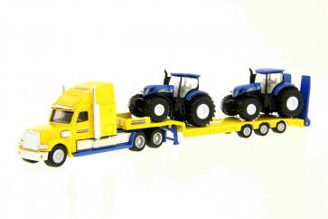 Siku 1805 Low Loader with 2 New Holland Tractors image