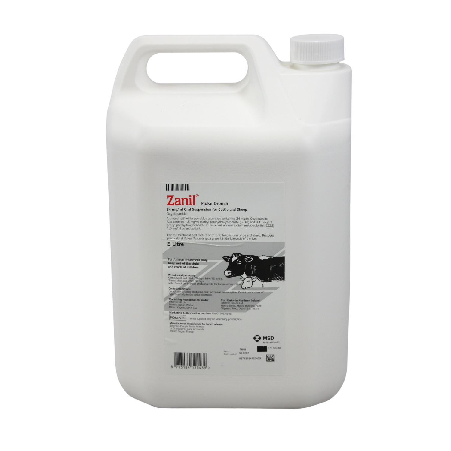Buy Zanil Fluke Drench 5L from Fane Valley Stores Agricultural Supplies