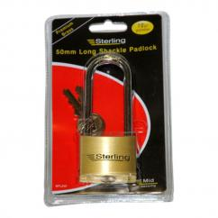 Sterling Brass Long Shackle Padlock 50mm image