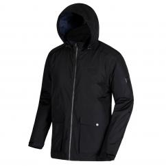 Regatta RMP237 Hebson Mens Waterproof Jacket Black  image