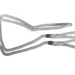 Calving Aid Ropes White  image