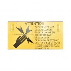 Electric Fence Warning Sign  image
