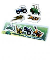 Tractor Ted 4 Shaped Rubber Set image