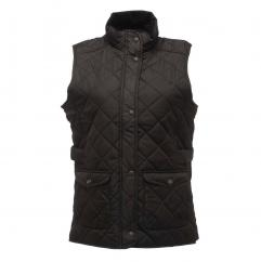 Regatta Tarah Ladies Quilted Black Bodywarmer  image