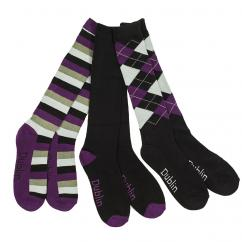 Dublin Black, Grey & Purple Socks  image