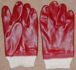 PVC Coated Gloves (Red)  image