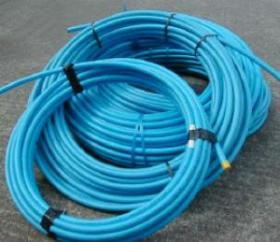 MDPE Blue Plastic Water Pipe 25mm x 25m image