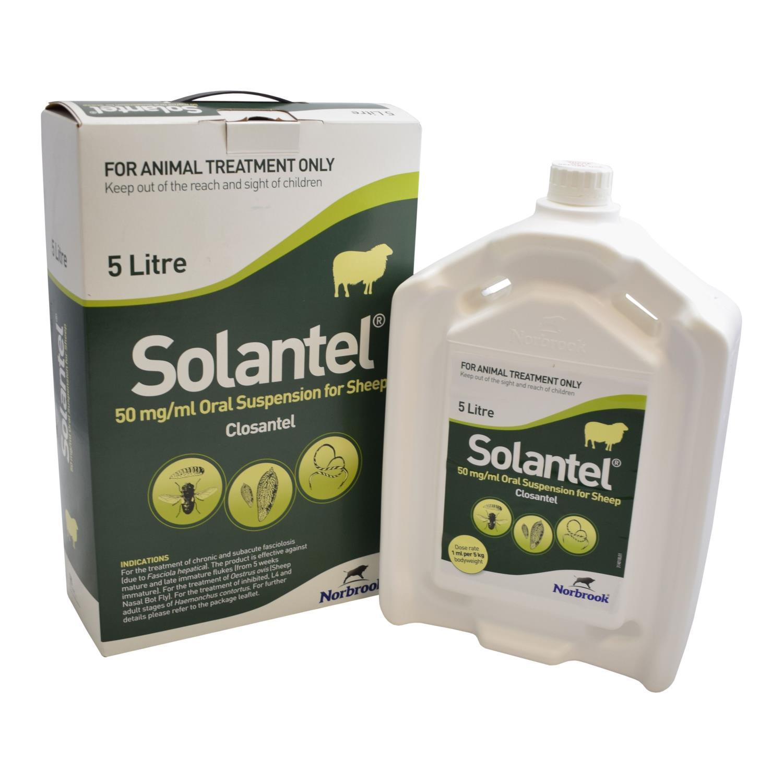 Buy Solantel Oral Suspension Fluke Drench for Sheep 5L from Fane