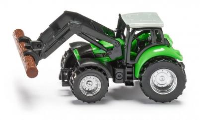 Siku Deutz Agrotron Tractor with Timber Loader  image