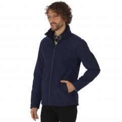 Regatta Castiel Mens Navy Softshell Jacket  image