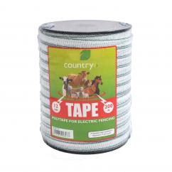 Country 12mm White Poly Electric Fence Tape  image