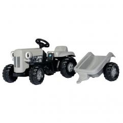 Rolly Kid Little Grey Fergie Tractor with Trailer - 01494 image
