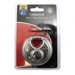 Sterling 70mm Stainless Steel Disc Padlock image