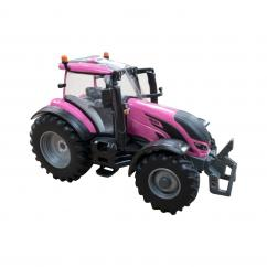 Britains 43247 Valtra Pink Tractor with Bale Lifter and Two Bales image