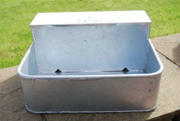 Fisher Alvin Square Galvanised Drinker 9L image