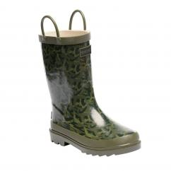 Regatta Kids Minnow Fauna Bay Leaf Wellington Boots  image