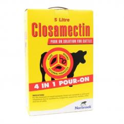 Closamectin Pour On 5ltr    **Meat withdrawal now 58 days** image