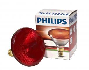Philips Infrared 250w Ruby ES Screw Fit Heat Lamp Bulb image