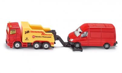 Siku Minature Recovery Truck with Van  image