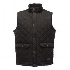 Regatta Tyler Quilted Mens Black Bodywarmer  image