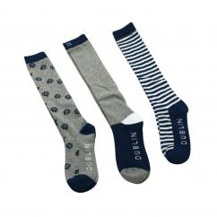 Dublin Posey Sock Pack Grey Adult  image