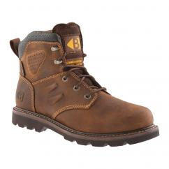 Buckler Non Safety Laced Dark Brown Crazy Horse Boots  image