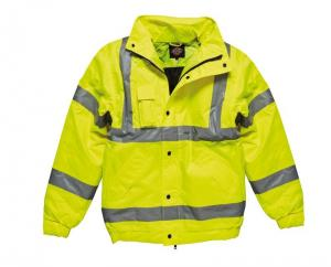 High Visibility Bomber Jacket in Yellow image