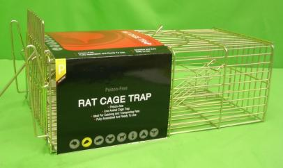 Galvanised Square Cage Rat Trap image