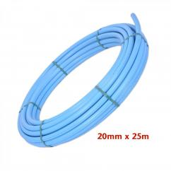 MDPE Blue Plastic Water Pipe 20mm x 25m image