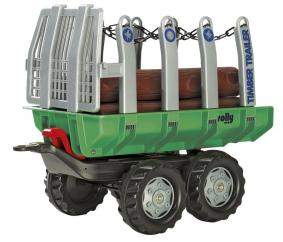 Rolly 12215 Twin Axle Log Trailer and Logs image