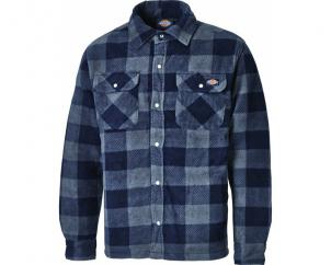 Dickies Portland Padded Fleece Shirt in Blue  image