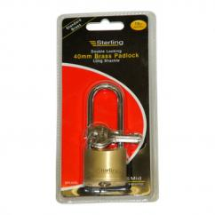 Sterling Brass Long Shackle Padlock 40mm  image