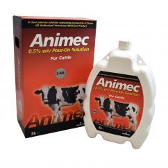 Animec 0.5% w/v Pour On Solution for Cattle  image