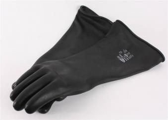 Black Latex Gauntlet Gloves  image