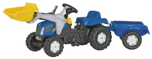 Rolly 02392 New Holland T7040 Tractor with Loader and Trailer image