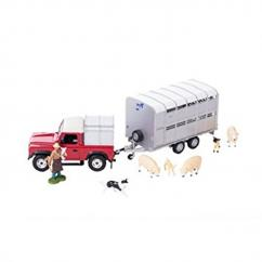 Britains 43138 Landrover and Sheep Trailer Set image